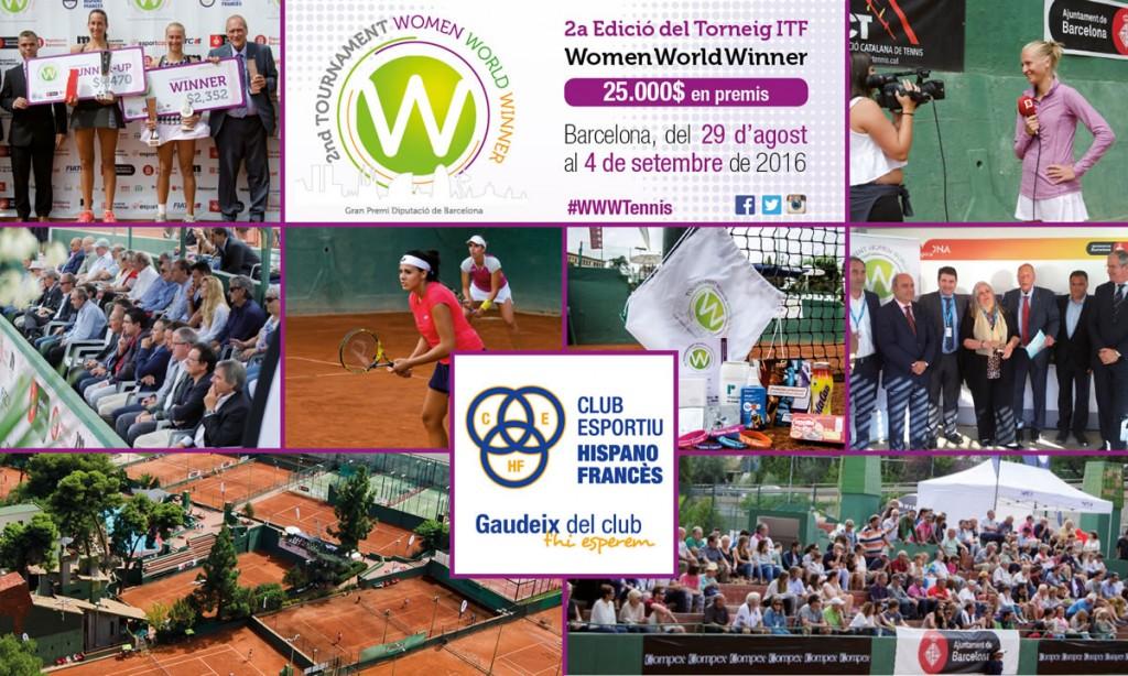 El millor tennis femení es cita al CE Hispano Francès a la 2a Edició del torneig Women World Winner